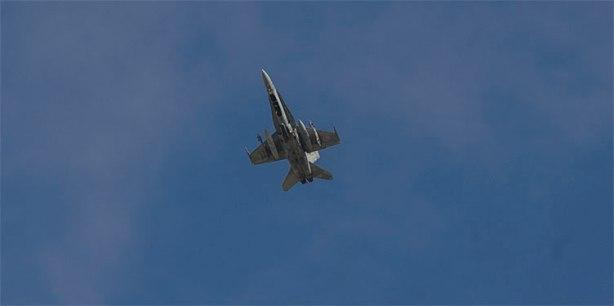 Miniobras militares en el poligono de tiro aereo de las Bardenas Reales.